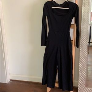 ASOS ribbed black jumpsuit